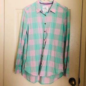 Pastel plaid shirt (LIKE NEW)
